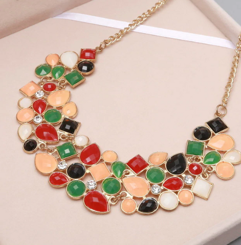 2018 Best Selling Multi-colored Clavicle Chain Necklace
