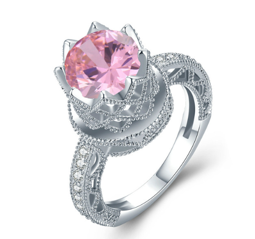 2018 Six Claws Rose Bridal Ring