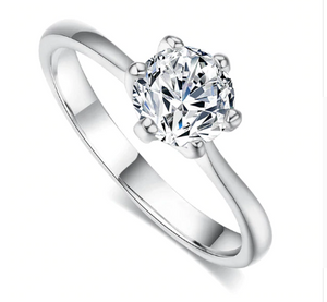 NEW RELEASE!  Six Claws Cubic Zirconia Bridal Ring