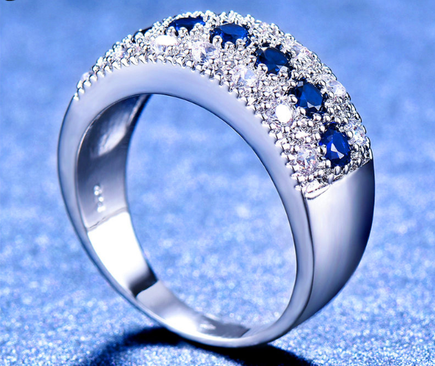 Best Selling Crystal Round Zircon Engagement Ring