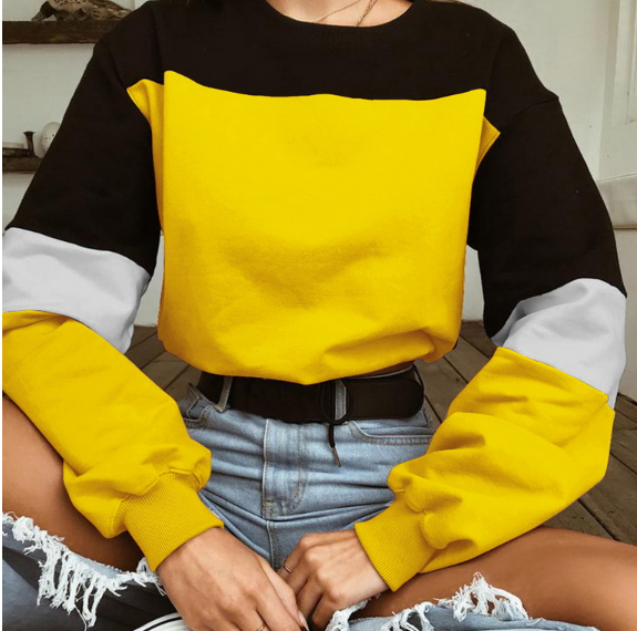 2018 Chic Loose Pullover Sweatshirt Crop Top