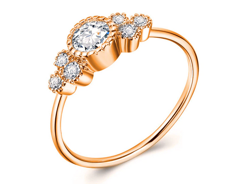 Sophisticated Zircon Engagement Ring Band