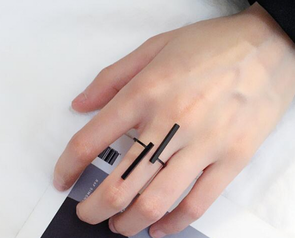 Adjustable Geometric Statement Ring