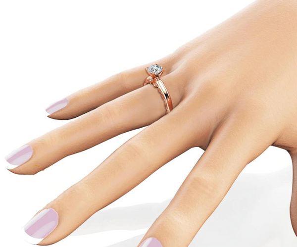 Elegant Four Claws Zirconia Bridal Ring