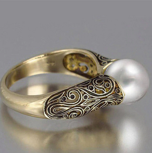Best Selling Vintage Pearl Bridal Ring