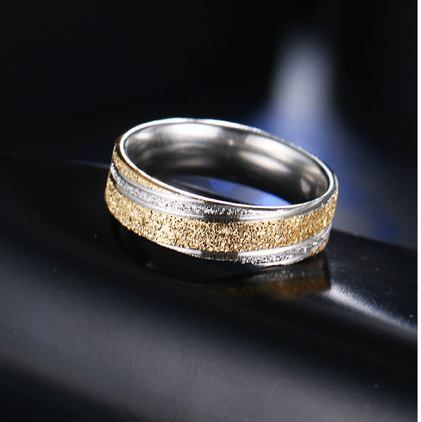 Classic Frosted Wedding Ring Band