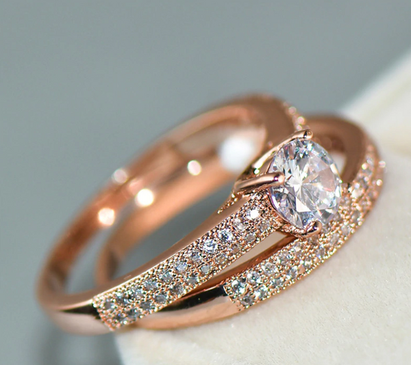 Brilliant AAA+ Zircon Set Wedding Ring