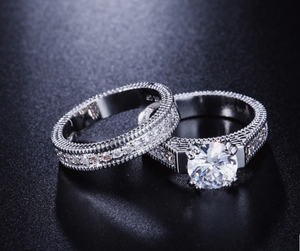 2 Rounds Luxury Cubic Zirconia Wedding Ring
