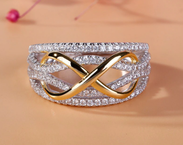 Fashionable Infinity Love Engagement Ring