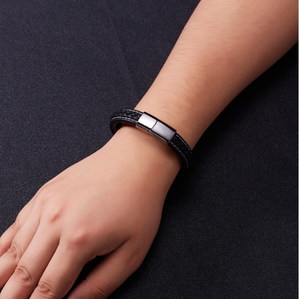 Classic Magnetic Leather Bracelet