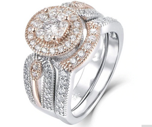 Sophisticated Cubic Zirconia Engagement Ring Band