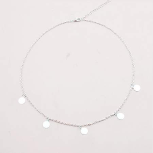 Round Charm Choker Necklace