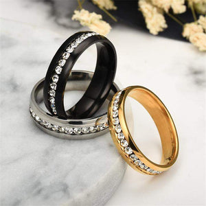 Sprinkled Crystals Classic Couple Ring