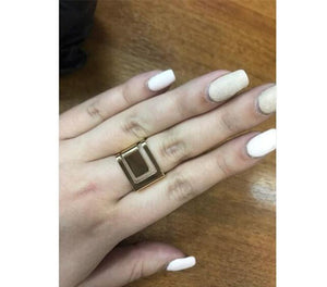 Grace Geometric Finger Ring