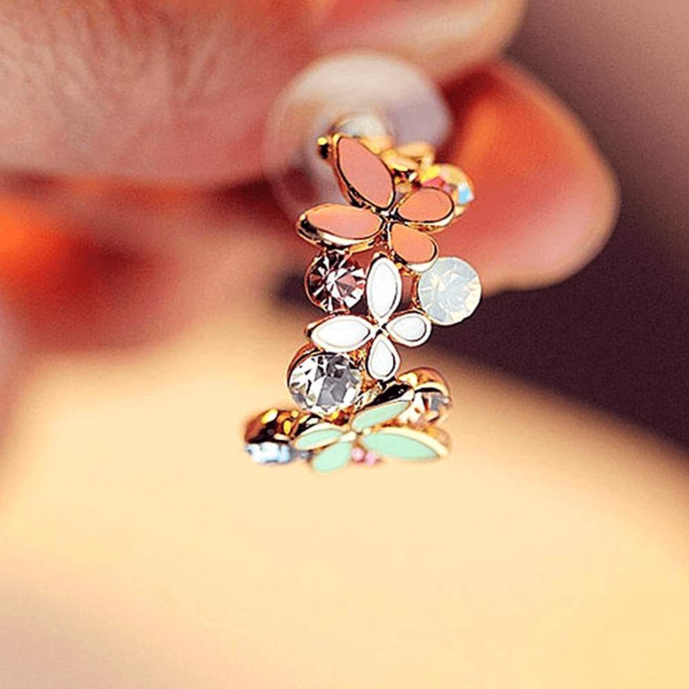 Free Jewelry - Half Circle Butterfly Earrings - Clever Clad