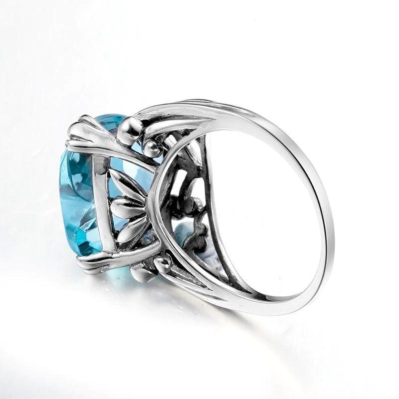 Sea Blue LOVE Ring
