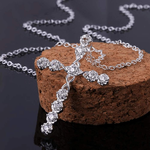 Free Jewelry - Cross of Jesus Sparkling Necklace - Clever Clad