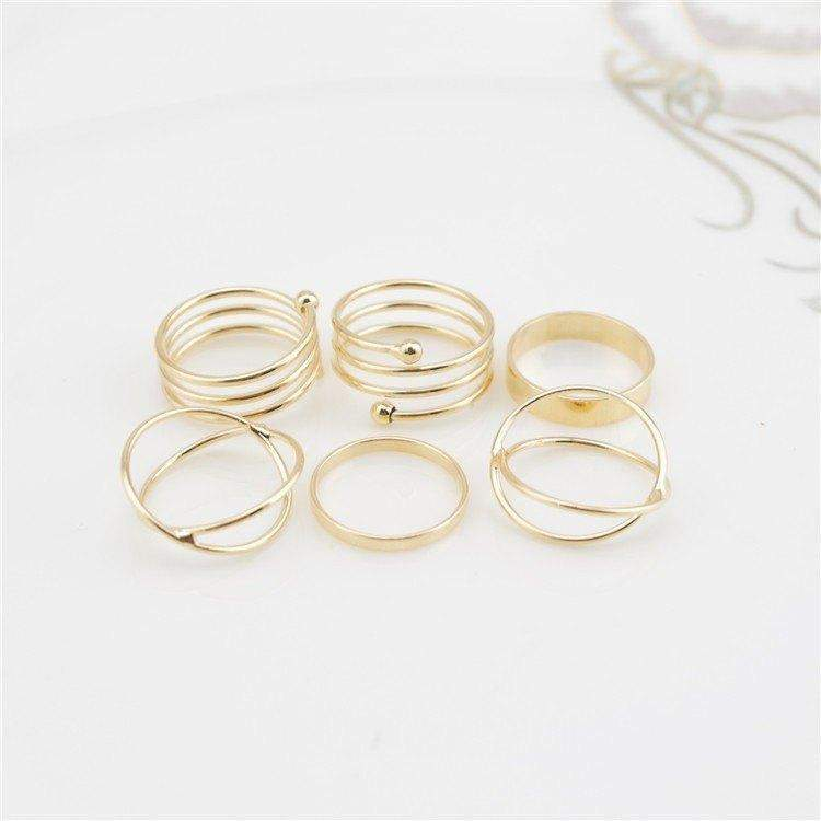 Free Jewelry - Six Piece Ring Set - Clever Clad