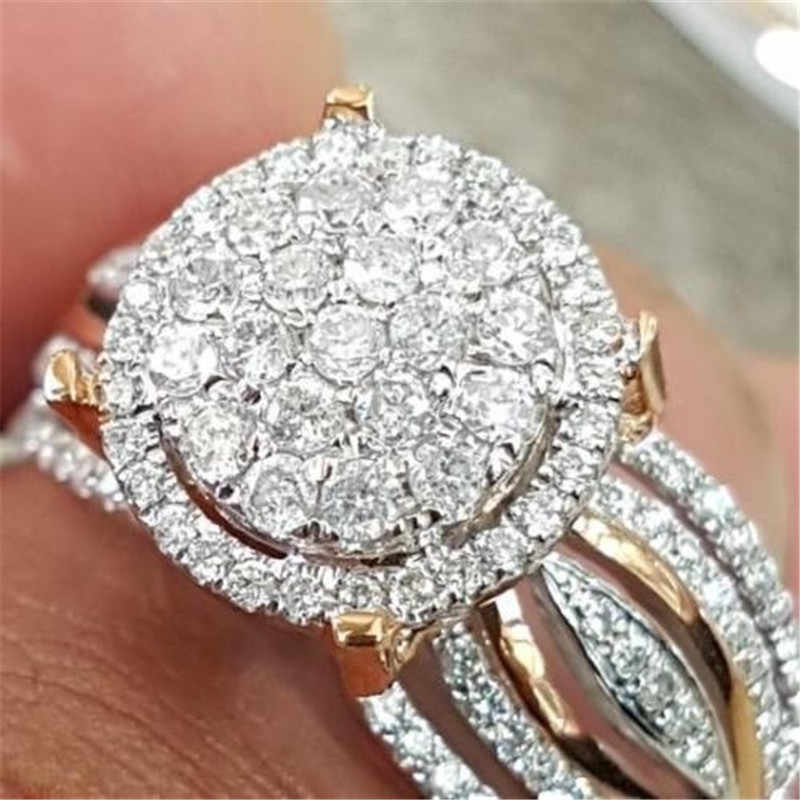 Shiny Crystal Zircon Ring