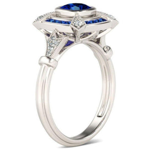 Crystal Ocean Blue Ring