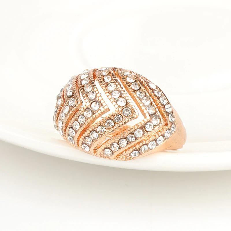 Big Oval Austrian Crystal Ring