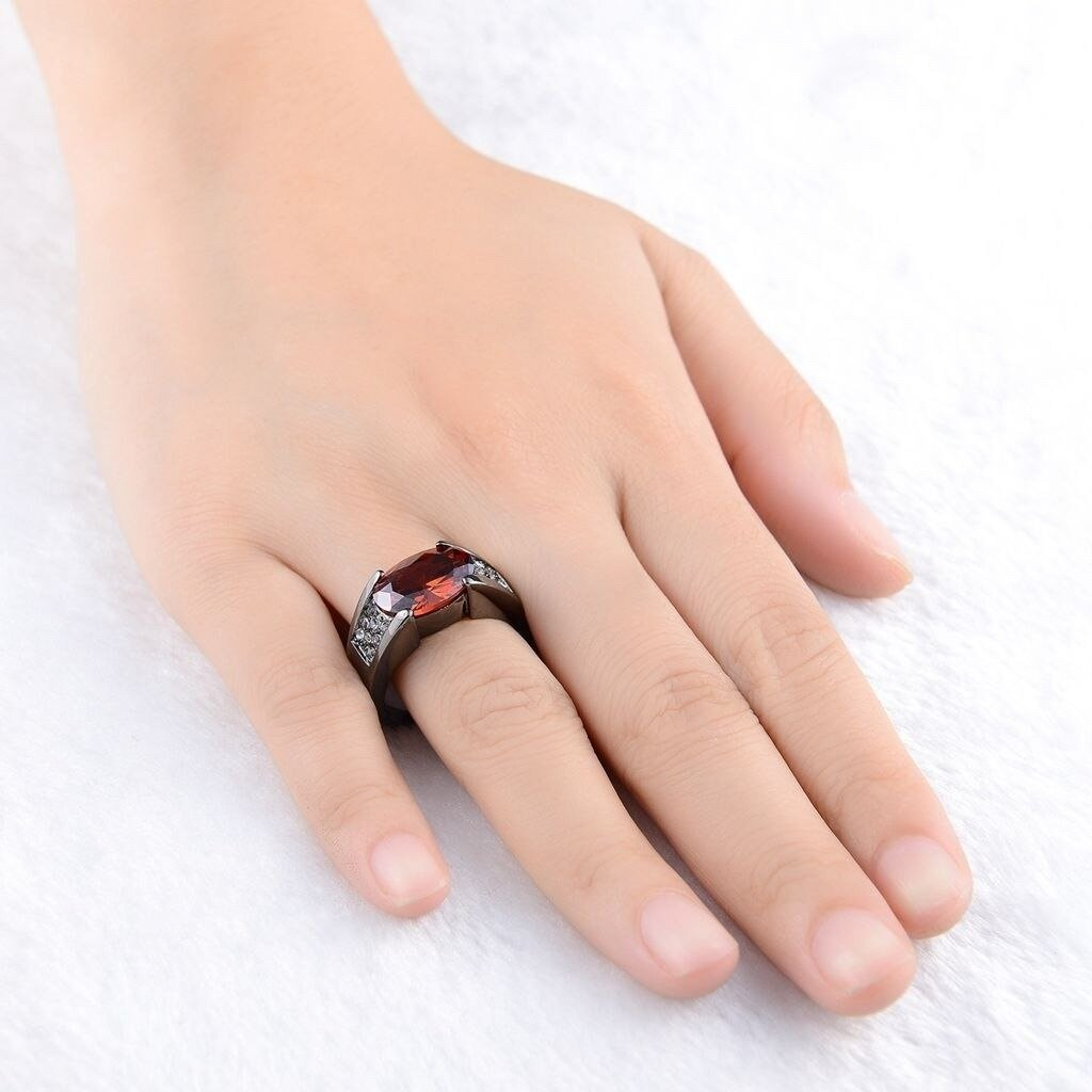 Red Black combine Ring for Women
