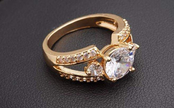 Classy Promise Band Engagement Ring