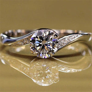 Crystal Couple Lady Ring
