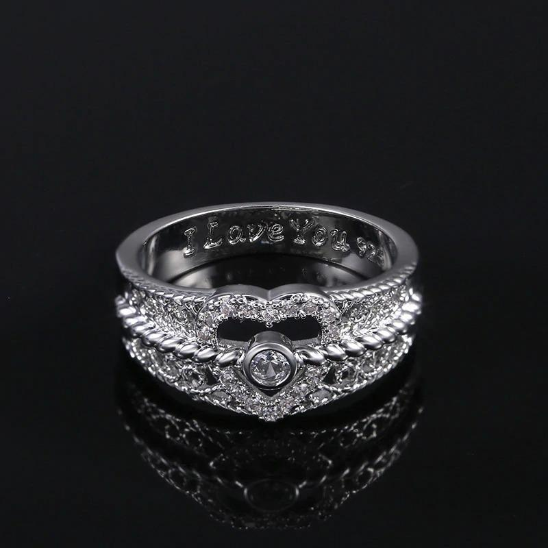 """I Love You"" Wedding Ring"