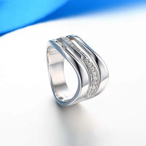 Wave Shape Shine Lady Ring
