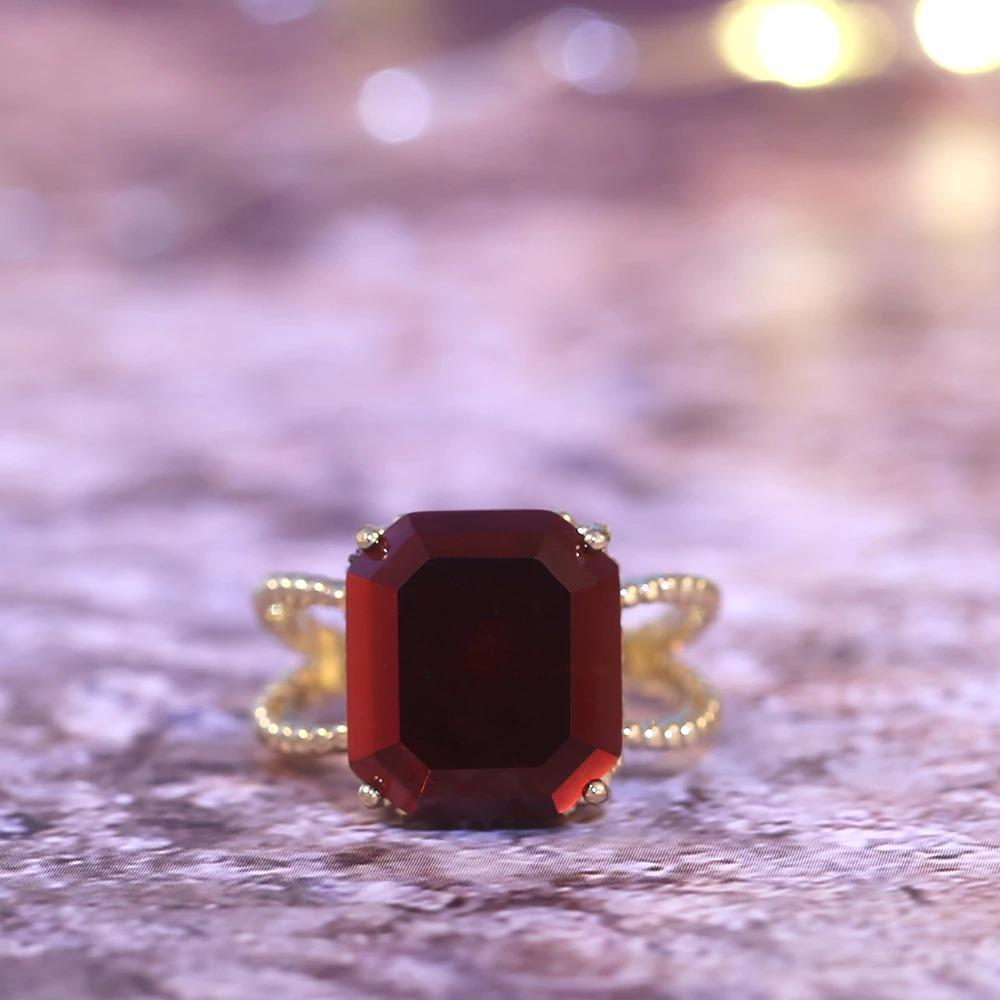 Retro Wine Engagement Ring