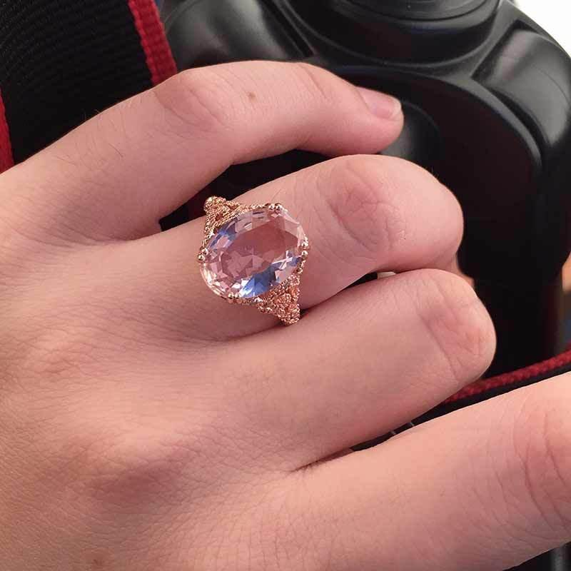 Cute Clear Engagement Ring