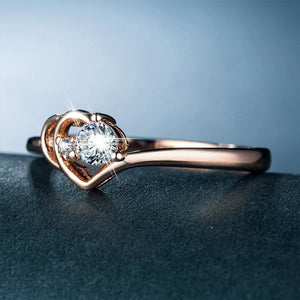Sparkly Romantic Bridal Ring