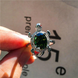 Cute Lady Turtle Ring