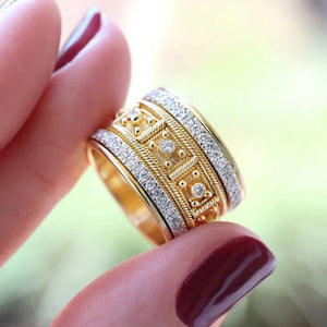 Micro Paved Rhinestone Ring