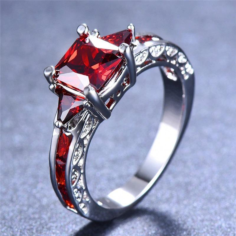 Square Stone Love Ring