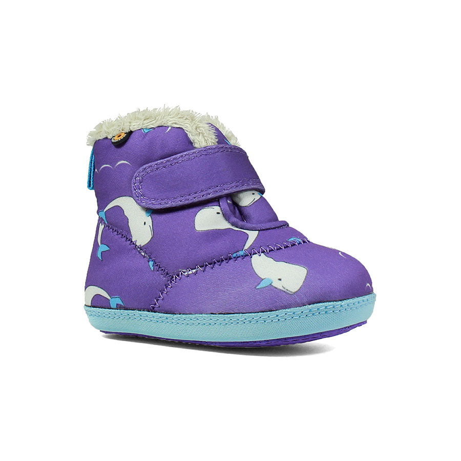 BOGS Violet Elliot Whale Baby Insulated Boot