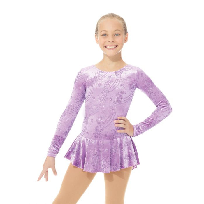 Mondor Adult Frosty Lavender Born to Skate Glitter Dress