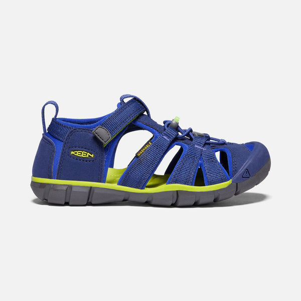 Keen Blue Depths/Chartreuse Seacamp II CNX Little Kid Sandal