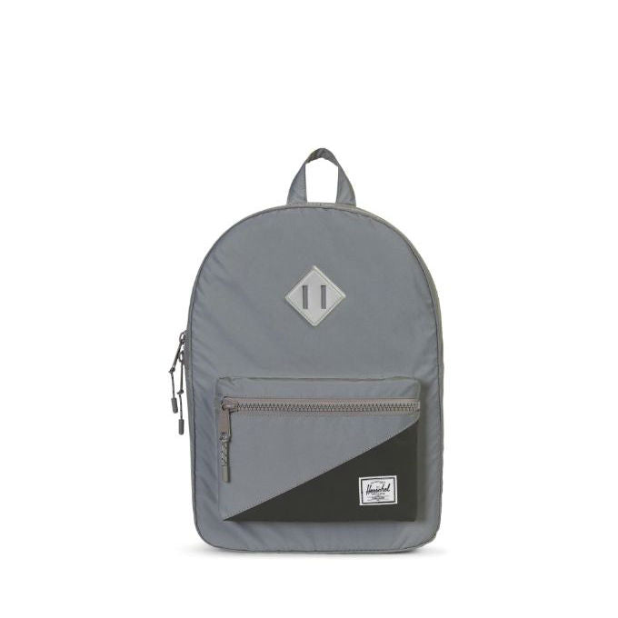 Herschel Silver Reflective/Black Heritage Youth Backpack