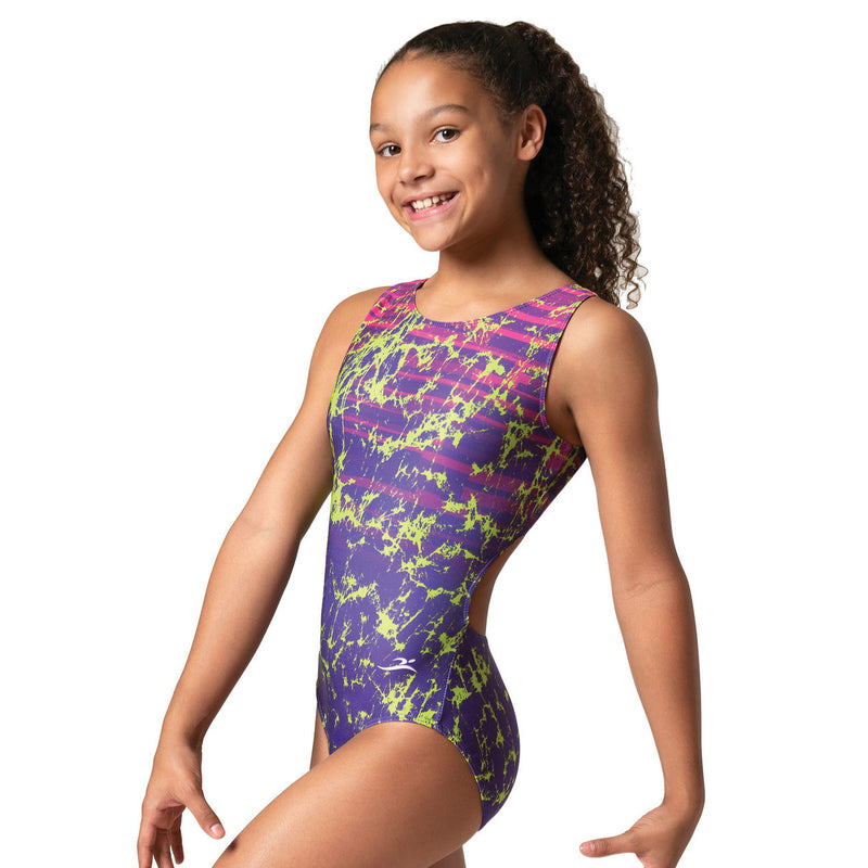 Motionwear Adult Purple and Lime Signature Leotard