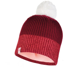 BUFF Wine Audny Junior Knitted & Polar Hat
