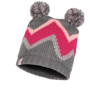 BUFF Arild Grey Child Knitted & Polar Hat