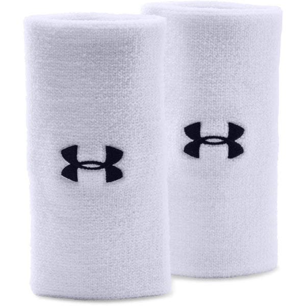 "Under Armour White/Black 6"" Performance Wristbands"