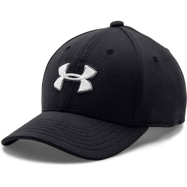 Under Armour Youth Blitzing II Black/White Stretch Fit Cap