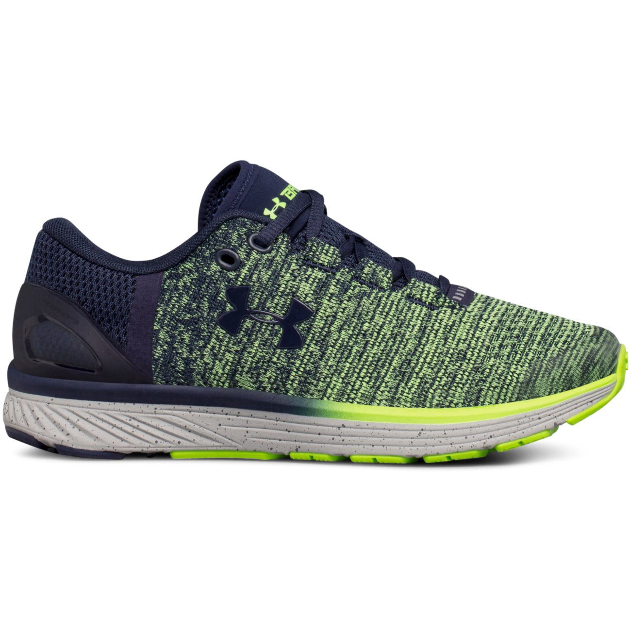 Under Armour Midnight Navy/Quirky Lime Charged Bandit Sneaker