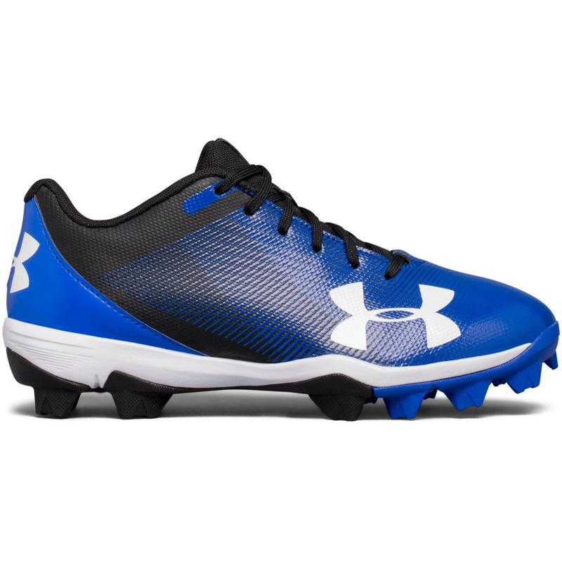 Under Armour Black/Team Royal Leadoff Low RM Jr Baseball Cleat