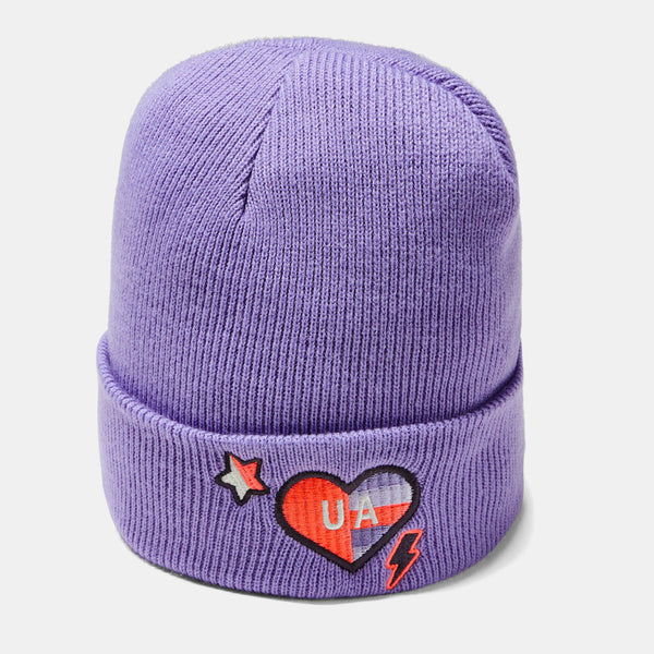 Under Armour Flight Purple/Onyx White Favourite Patch Beanie