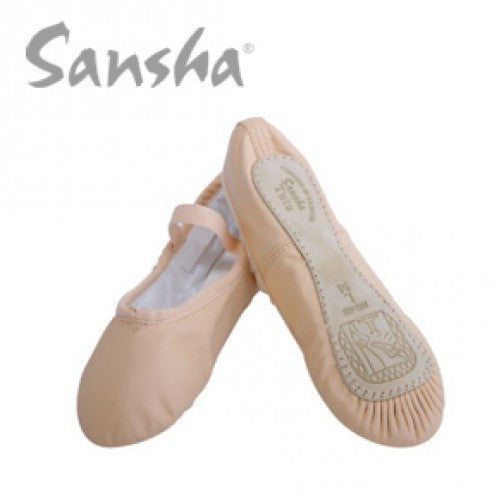 Sansha Star 14L Full-Sole Leather Ballet Slipper