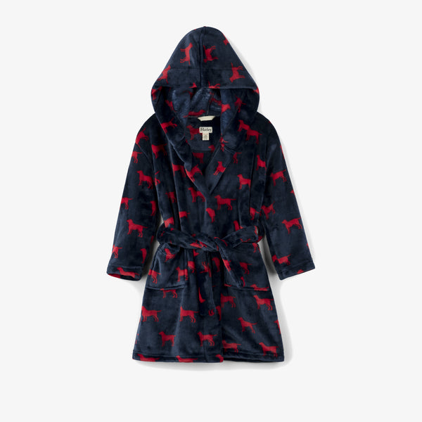 Hatley Red Labs Fleece Kids Robe